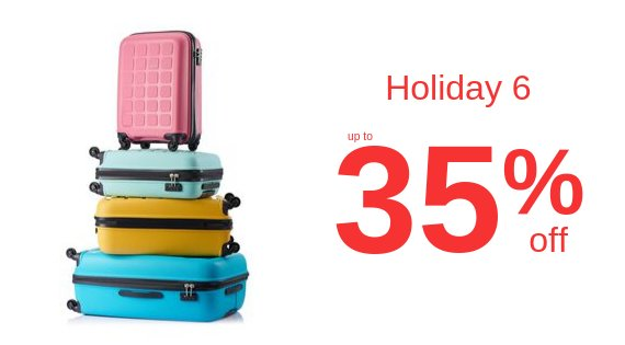 Holiday up to 35% Off