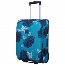 Tripp turquoise/navy 'Bloom' 2-Wheel cabin suitcase